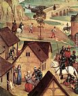 Hans Memling Canvas Paintings - Advent and Triumph of Christ [detail 1]